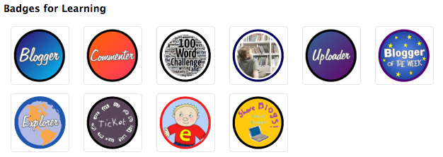 Example Badges for Learning Backpack